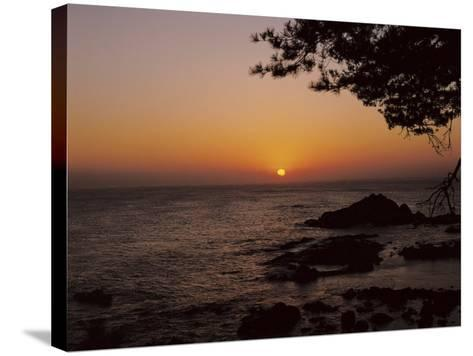 Peaceful and Beautiful Sunset over a Sea--Stretched Canvas Print