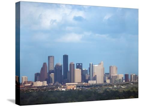 Buildings and High Rises in Skyline of Houston, Texas at Night--Stretched Canvas Print