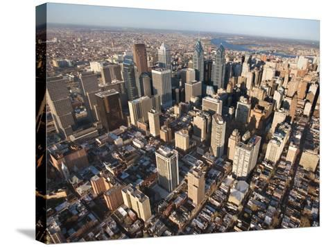 Aerial View of Buildings in Philadelphia, Pennsylvania--Stretched Canvas Print