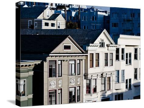 Historic Victorian Houses in San Francisco, California--Stretched Canvas Print