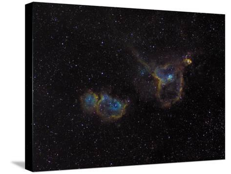 Heart and Soul Nebulae-Stocktrek Images-Stretched Canvas Print