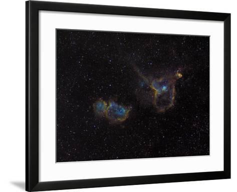 Heart and Soul Nebulae-Stocktrek Images-Framed Art Print