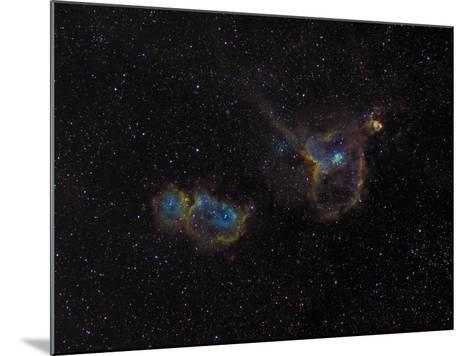 Heart and Soul Nebulae-Stocktrek Images-Mounted Photographic Print
