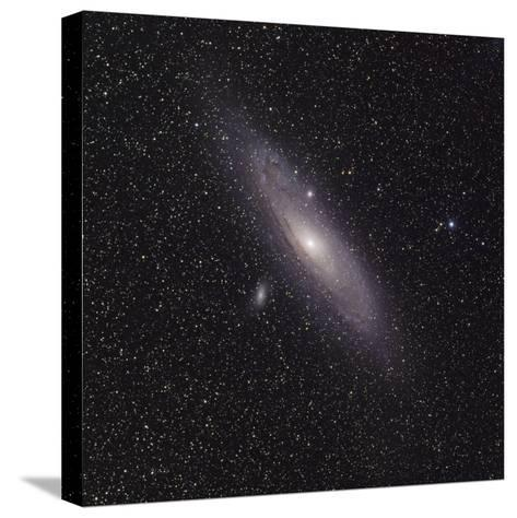 Andromeda Galaxy (M31) with Satellite Galaxies Messier 110 and Messier 32-Stocktrek Images-Stretched Canvas Print