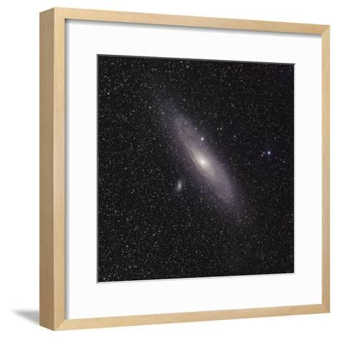 Andromeda Galaxy (M31) with Satellite Galaxies Messier 110 and Messier 32-Stocktrek Images-Framed Art Print