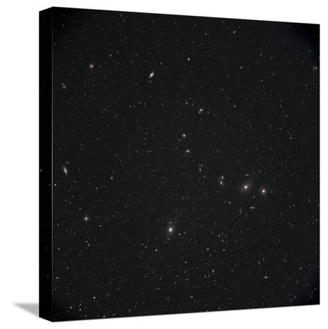 Markarian Chain Galaxies with M84, M86, M87, M88, and M90-Stocktrek Images-Stretched Canvas Print