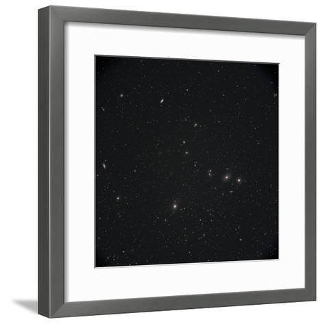 Markarian Chain Galaxies with M84, M86, M87, M88, and M90-Stocktrek Images-Framed Art Print