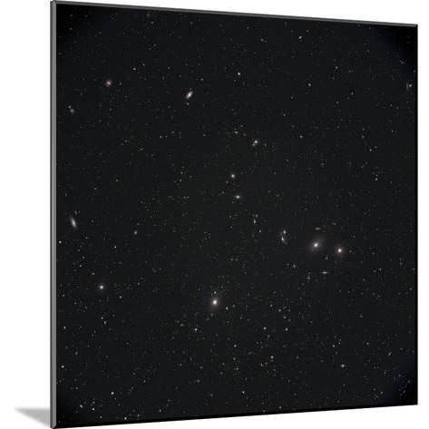 Markarian Chain Galaxies with M84, M86, M87, M88, and M90-Stocktrek Images-Mounted Photographic Print
