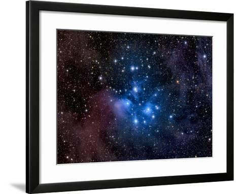 Pleiades, also known as the Seven Sisters-Stocktrek Images-Framed Art Print
