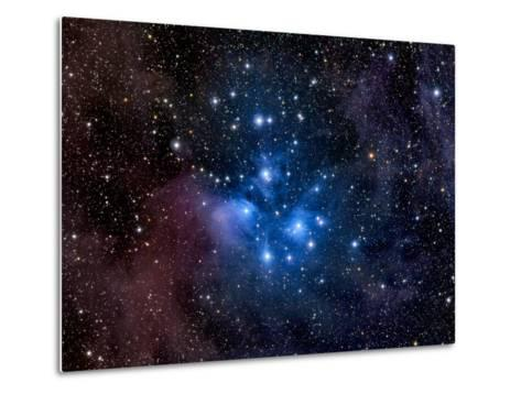 Pleiades, also known as the Seven Sisters-Stocktrek Images-Metal Print