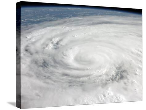 Hurricane Ike Covering More than Half of Cuba, from International Space Station-Stocktrek Images-Stretched Canvas Print