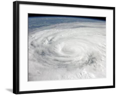 Hurricane Ike Covering More than Half of Cuba, from International Space Station-Stocktrek Images-Framed Art Print