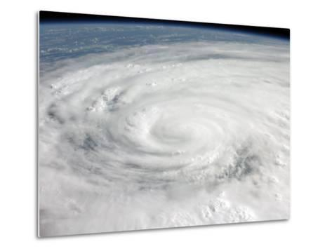 Hurricane Ike Covering More than Half of Cuba, from International Space Station-Stocktrek Images-Metal Print