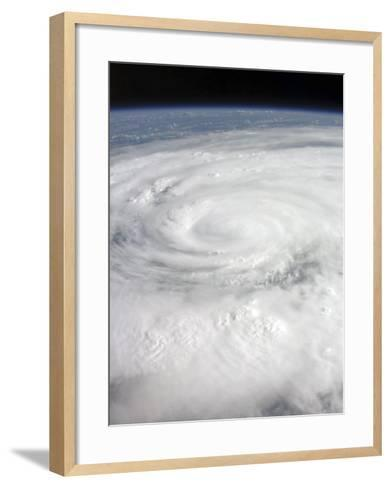 Hurricane Ike Covering More than Half of Cuba, from International Space Station-Stocktrek Images-Framed Art Print