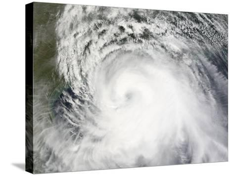 Hurricane Ike, from International Space Station-Stocktrek Images-Stretched Canvas Print