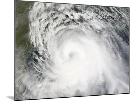Hurricane Ike, from International Space Station-Stocktrek Images-Mounted Photographic Print