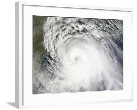 Hurricane Ike, from International Space Station-Stocktrek Images-Framed Art Print