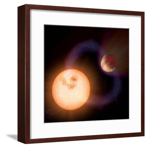 Artist's Impression of a Unique Type of Exoplanet-Stocktrek Images-Framed Art Print
