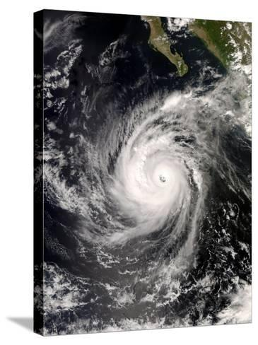 Hurricane Norbert Off Mexico, October 8, 2008-Stocktrek Images-Stretched Canvas Print