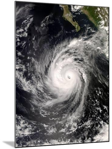 Hurricane Norbert Off Mexico, October 8, 2008-Stocktrek Images-Mounted Photographic Print