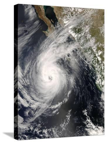 Hurricane Norbert Off Mexico, October 10, 2008-Stocktrek Images-Stretched Canvas Print