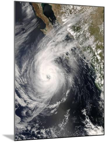 Hurricane Norbert Off Mexico, October 10, 2008-Stocktrek Images-Mounted Photographic Print