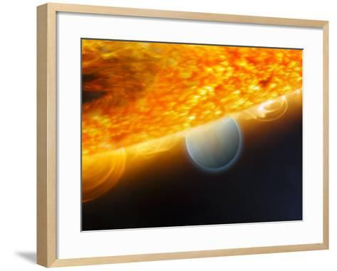 Artist's Impression of a Jupiter-Size Extrasolar Planet Being Eclipsed by its Parent Star-Stocktrek Images-Framed Art Print