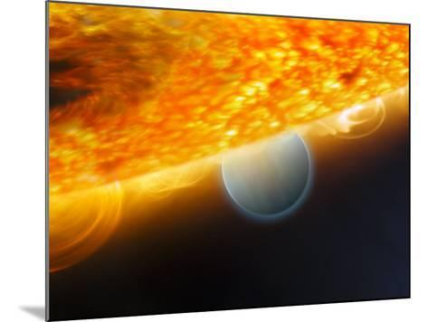 Artist's Impression of a Jupiter-Size Extrasolar Planet Being Eclipsed by its Parent Star-Stocktrek Images-Mounted Photographic Print