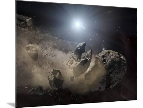 White Dwarf Star Surrounded by a Disintegrating Asteroid-Stocktrek Images-Mounted Photographic Print