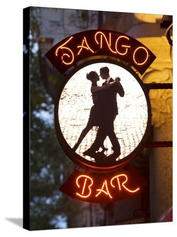 Tango Bar Sign, Buenos Aires, Argentina-Demetrio Carrasco-Stretched Canvas Print