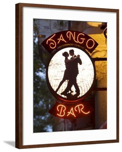 Tango Bar Sign, Buenos Aires, Argentina-Demetrio Carrasco-Framed Art Print