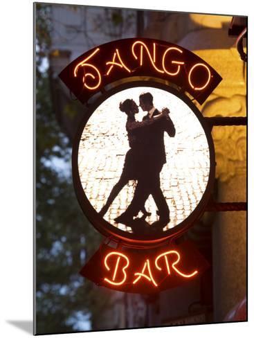 Tango Bar Sign, Buenos Aires, Argentina-Demetrio Carrasco-Mounted Photographic Print