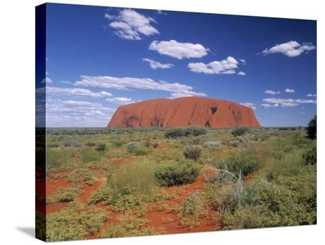 Ayers Rock, Northern Territory, Australia-Alan Copson-Stretched Canvas Print