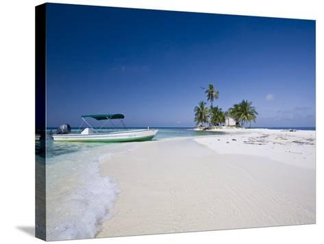 Beach, Silk Caye, Belize-Jane Sweeney-Stretched Canvas Print