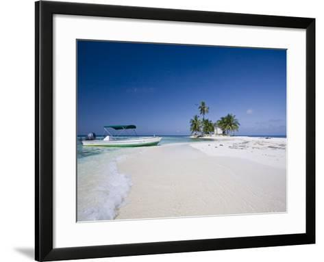Beach, Silk Caye, Belize-Jane Sweeney-Framed Art Print