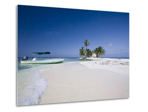 Beach, Silk Caye, Belize-Jane Sweeney-Metal Print
