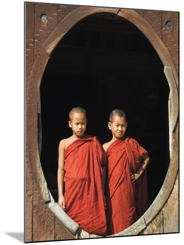 Monks, Shwe Yaunghwe Kyaung Monastery, Inle Lake, Shan State, Myanmar-Jane Sweeney-Mounted Photographic Print
