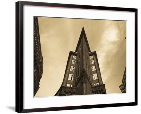 Chilehaus Office Building, Merchant District, Hamburg, State of Hamburg, Germany-Walter Bibikow-Framed Art Print