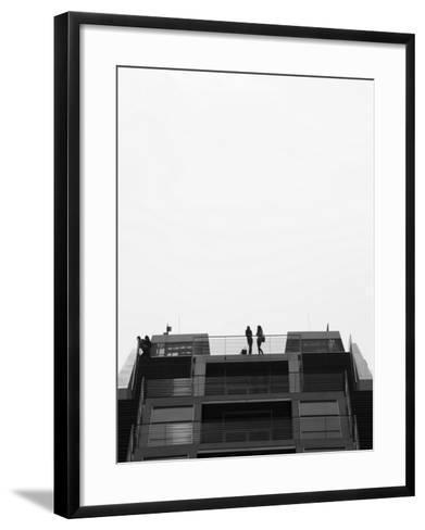 Hamburg Dockland Office Building, Elbmeile, Hamburg, State of Hamburg, Germany-Walter Bibikow-Framed Art Print