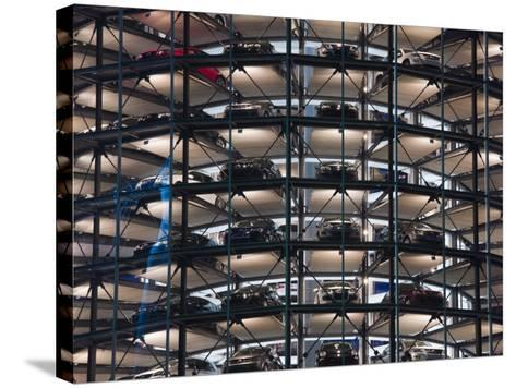 VW Auto Towers, Autostadt, Wolfsburg, Lower Saxony, Germany-Walter Bibikow-Stretched Canvas Print