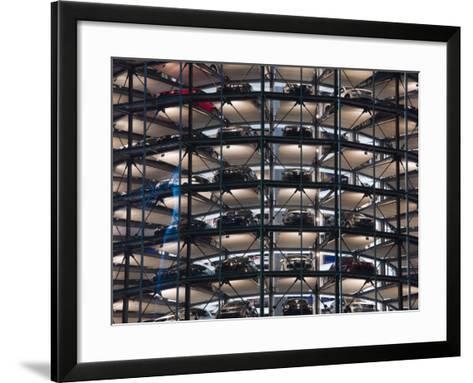 VW Auto Towers, Autostadt, Wolfsburg, Lower Saxony, Germany-Walter Bibikow-Framed Art Print