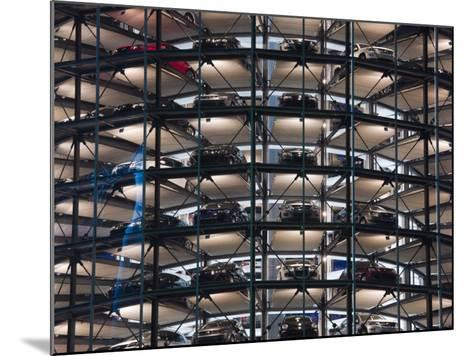 VW Auto Towers, Autostadt, Wolfsburg, Lower Saxony, Germany-Walter Bibikow-Mounted Photographic Print