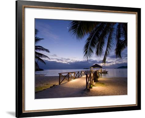 Luxury Resort, Malolo Island, Mamanuca Group, Fiji-Michele Falzone-Framed Art Print