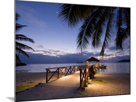 Luxury Resort, Malolo Island, Mamanuca Group, Fiji-Michele Falzone-Mounted Photographic Print