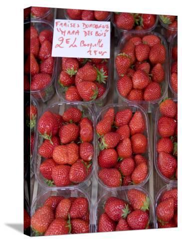 Strawberries at Market, Sarlat, Dordogne, France-Doug Pearson-Stretched Canvas Print