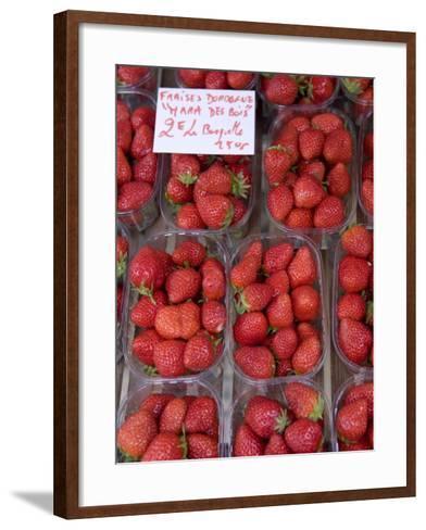 Strawberries at Market, Sarlat, Dordogne, France-Doug Pearson-Framed Art Print