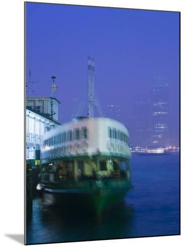 Victoria Harbour, Star Ferry Terminal, Kowloon, Hong Kong, China-Walter Bibikow-Mounted Photographic Print