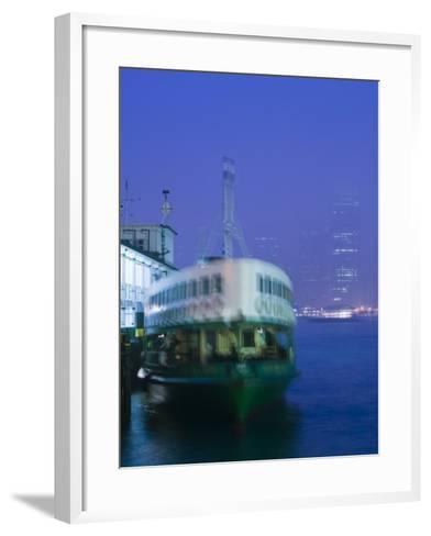 Victoria Harbour, Star Ferry Terminal, Kowloon, Hong Kong, China-Walter Bibikow-Framed Art Print