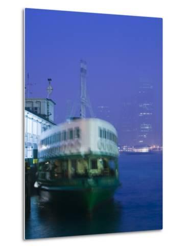 Victoria Harbour, Star Ferry Terminal, Kowloon, Hong Kong, China-Walter Bibikow-Metal Print