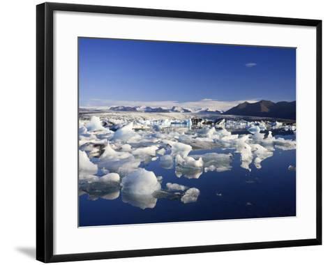 Jokulsarlon Iceberg Lagoon, Iceland-Michele Falzone-Framed Art Print